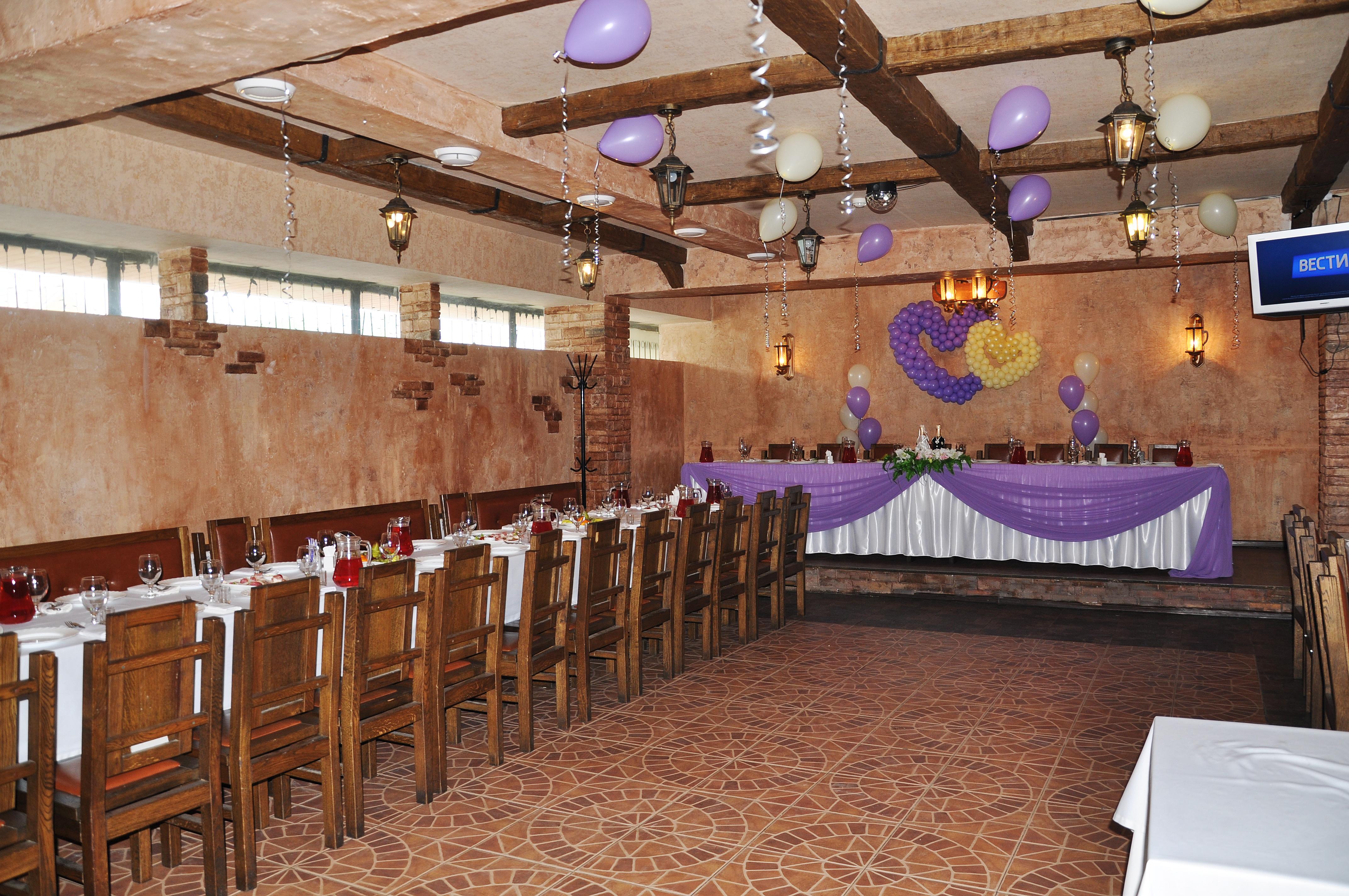 Свадебное оформление большого зала