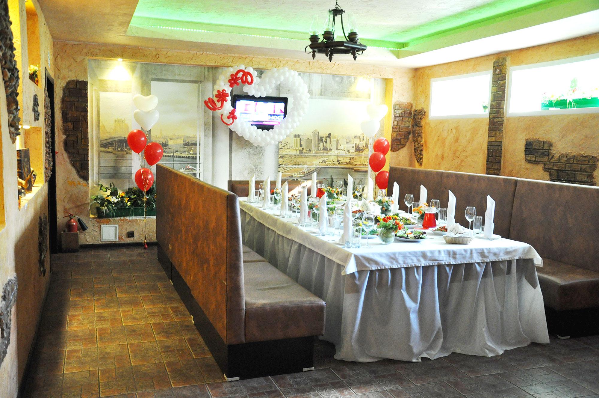 Свадебный дизайн малого зала